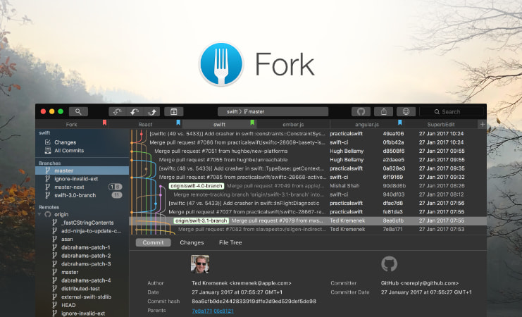 Fork - a fast and friendly git client for Mac and Windows